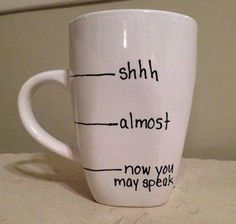 the perfect Monday morning coffee cup.diy sharpie mug My Coffee, Coffee Cups, Morning Coffee, Coffee Break, Coffee Talk, Drink Coffee, Monday Coffee, Coffee Works, Coffee Today