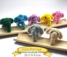 Elephant- result for easy pipe cleaner crafts