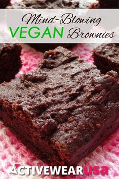 Mind-Blowing Vegan Brownies Recipe. These brownies taste SO GOOD you'd never guess they're healthy and vegan!