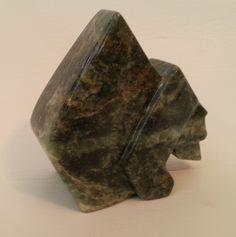 BEAR - an original soapstone carving by ALLAN  WAIDMAN Soapstone Carving, Stones, Wire, Bear, Sculpture, The Originals, Rocks, Stone, Sculpting