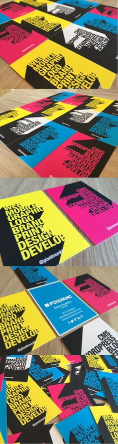 Updated Business Card designs. Designed and printed @pixelmunki