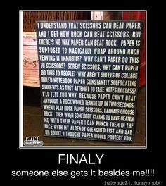 rock, paper, scissors - funny!