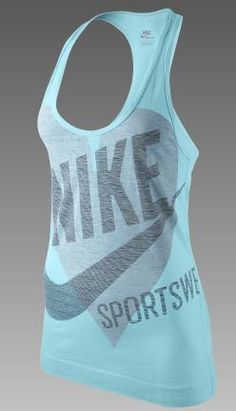 Nike Graphic Racer Women's Tank Top, featuring an oversized graphic in a loose fit.