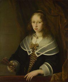 .:. Ferdinand Bol (1616-1680) - A Lady with a Fan