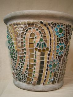 Mosaic Planter for a Brooklyn Brownstone #4 by Blake Sherlock