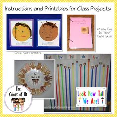 All About Me Printables: The Colors of Us::Teaching The Little People