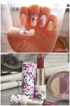 Nail design based on Paul & Joe lipstick♥I want their lipsticks so bad!