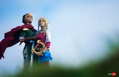 Link and Zelda by Kenjiko.
