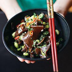 Mu'er Maodou Shala (Wood Ear Mushroom Salad with Edamame)  Recipe - Saveur.com