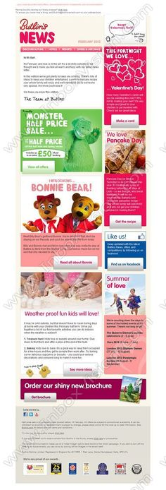 Company: Butlins Skyline Ltd.   Subject: Open up for your February issue of Butlins News – including Hot off the press, the best winter indoor activities and great offers!         INBOXVISION, a global email gallery/database of 1.5 million B2C and B2B promotional email/newsletter templates, provides email design ideas and email marketing intelligence. www.inboxvision.c... #EmailMarketing  #DigitalMarketing  #EmailDesign  #EmailTemplate  #InboxVision  #SocialMedia  #EmailNewsletters