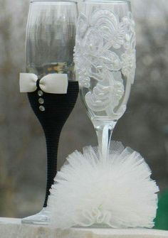12 Best Diy Wedding Champagne Glasses Ideas Images Champagne