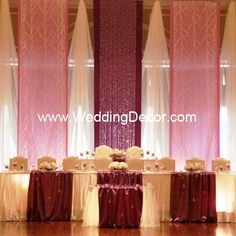 Wedding Backdrop  Flat Backdrop - Purple and lavender panels with tree fabric and crystal accents