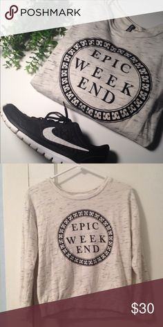 Divided Graphic Sweatshirt Divided H&M Graphic Sweatshirt. Size S. 53% cotton and 47% viscose. Graphic design has a velvet feeling to it. Pair with distressed black jeans and you have a cool weekend outfit! Divided by H&M Tops Sweatshirts & Hoodies