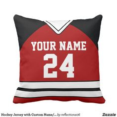 Hockey Jersey with Custom Name/Number Pillow