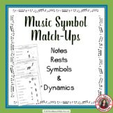 Music Games: Music Theory Puzzles: Music Match-Up Notes Re