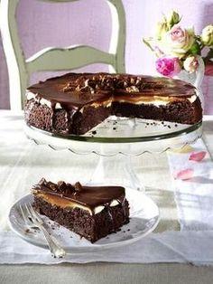 Das Rezept für Brownie-Krokant-Tarte und weitere kostenlose Rezepte auf LECKER.de