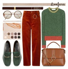 """""""colors of autumn"""" by foundlostme ❤ liked on Polyvore featuring NewbarK, Tom Ford, Hyein Seo, New Look, Linda Farrow, Valentino, ZOEVA, Phillip Gavriel, loafers and autumn"""
