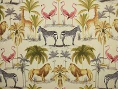 Prestigious Textiles Longleat Cotton Fabric 5761/418 Seville - The Millshop Online