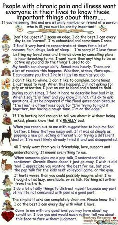"The chronic illness I live with... Best explanation I have seen to describe the limitations and ""needs"" in relationships."