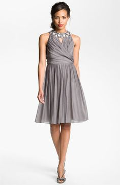 Too much bling?  Man only one size left! Suzi Chin for Maggy Boutique Embellished Collar Fit & Flare Dress | Nordstrom