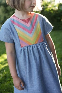 rainbow yoke hide-and-seek dress // probably actually