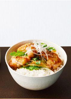 鶏肉とたっぷり野菜の和風サラダ丼 のレシピ・作り方 │ABCクッキングスタジオのレシピ   料理教室・スクールならABCクッキングスタジオ