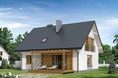 Prosta bryła, dwuspadowy dach, nieskomplikowana konstrukcja – to cechy, które sprawiają, że projekt jest tani i szybki w budowie. Dodatkowo posiada, aż 3 kondygnacje.