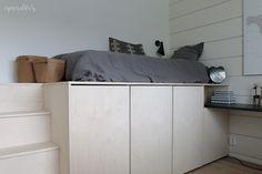 Asuntomessut 2016 - Oivaltavia ideoita ja yksityiskohtia | Esmeralda's Small Places, Diy Bed, Kidsroom, White Bathroom, Room Decor, Interior Design, House, Furniture, Interiors