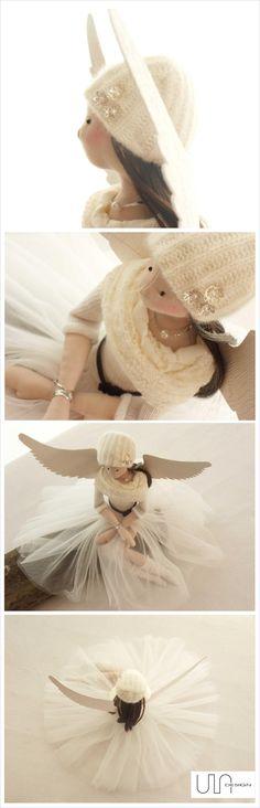 кукла интерьернаякукла тильда выкройка интерьернаяигрушка коллекционнаякукла текстильнаякукла ручнаяработа мастеркласс хобби рукоделие творчество Angel ULAdesign   #angels #tilda #doll #sewing