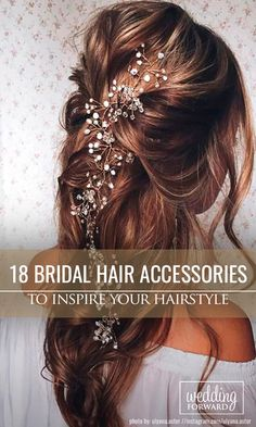 18 Bridal Hair Accessories To Inspire Your Hairstyle ❤Hair accessories let you look chic from head to toe in an instant. See more: http://www.weddingforward.com/bridal-hair-accessories-to-inspire-hairstyle/ #weddings #hairstyle