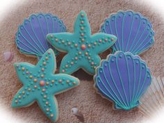 gallery of space themed cookies | Starfish and Seashell Cookies | Cookie Connection