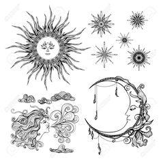 47628493-Fairytale-lune-de-soleil-style-et-vent-symboles-anthropomorphique-mis-isol-illustration-vectorielle-Banque-d'images.jpg (1299×1300)