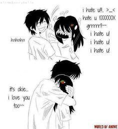 anime...couple...cute...Tsundere