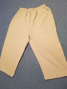 Express Design Studio Womens 12 Dress Pants Capris Khaki Stretch 34 X 21.5 Women's Clothing Clothing, Shoes & Accessories