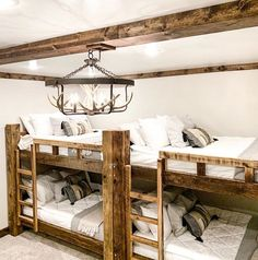 """Rustic Elegance"" is the way @samantha.jo.morgan describes her bunk room and we'd have to agree! How would you describe it?  . . . .  #beddys #zipperbedding #zipyourbed #girlbedding #girlbed #beddysbeds #girlyroom #girlsroomdecor #girlsroom #girlsroominspo #girlsroominspiration #girlsroomdecoration #girlsroomstyling #girlystuff #bedding #beddings #homedecor #homedesign #bedroomgoals #bedroomideas #boysroom #boybedding #kidsroominspo  #kidsroomdecor Floral Bedroom Decor, Boho Decor, Bunk Rooms, Bunk Beds, Beddys Bedding, Zipper Bedding, Shared Bedrooms, Make Your Bed, Girls Bedroom"