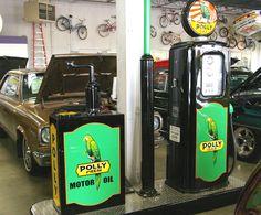 Poly Gas Station  Sign Refrigerator  Magnet