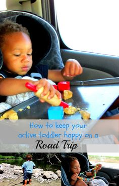 Great tips for entertaining your (very active) toddler in the car.