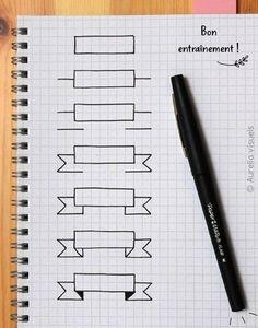 bannière -étapes-feuille quadrillée- Aurelia visuels-01 #bulletjournal #bannière #dessins #aureliavisuels