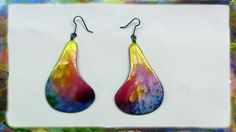 How to make Watercolor Paper Earrings by Ross Barbera