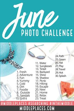 It's time for the June Photo Challenge! Grab your camera or your phone and get clicking. We've cooked up a fun way for you to document summer one photo at a time. And don't forget to follow @middleplaces on Instagram!