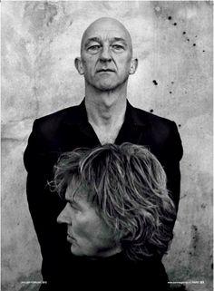 Anton Corbijn in PARK Magazine, shooting Matthijs van Nieuwkerk and Wilfried de Jong