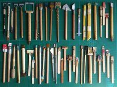 instrumentos artesanales para caligrafías