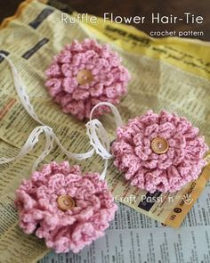 A quick easy stashed yarn crochet pattern: layered ruffle flower, great little handmade gift. Adapt pattern for brooch, embellishment or hair tie. – Page 2 of 2