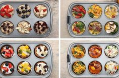 Try These East And Healthy Muffin Tin Breakfasts In 4 Different Ways