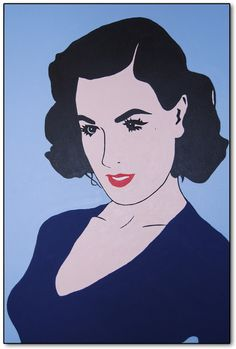 """An original painting... """"Dita Von Teese""""is a contemporary piece inspired by the beautiful Dita Von Teese... an American burlesque dancer, model, costume designer, entrepreneur and actress. She is largely responsible for re-popularizing burlesque performance"""