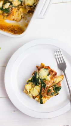 healthier, gluten-free take on a classic lasagna.A healthier, gluten-free take on a classic lasagna. Diet Recipes, Cooking Recipes, Healthy Recipes, Low Carb Vegetarian Recipes, Cooking Kale, Vegetarian Dinners, Sausage Recipes, Recipies, Eggplant Dishes