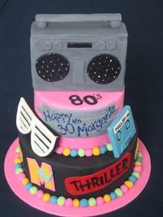 Blissfully Sweet: 80s Themed 30th Birthday Cake