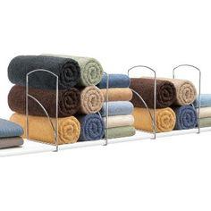 Lynk Tall Shelf Dividers (Set of 4) - Closet Shelf Organizer - Chrome