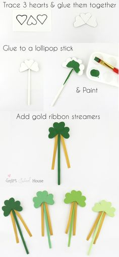 Lucky Shamrock Wands ~ used to search for Leprechauns & 4-Leaf Clovers