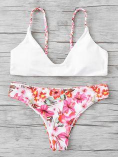 877ca4d514a Braided Straps Calico Print Bikini Set #swimsuits,#bikini,#swimsuit,bathing